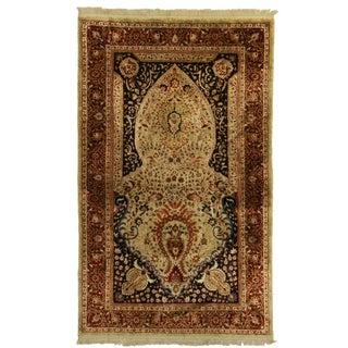RugsinDallas Hand Knotted Silk Turkish Rug - 3′1″ × 5′1″