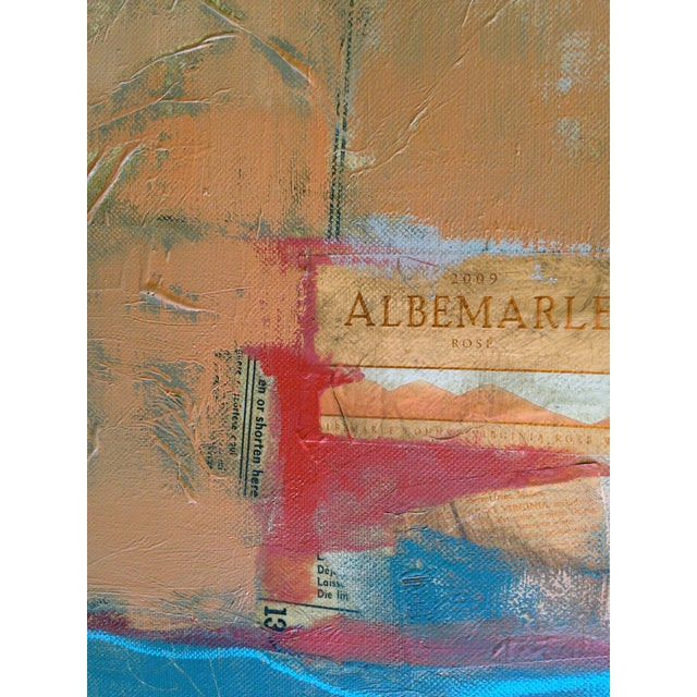 Abstract Painting with Bayeaux Tapestry Image - Image 4 of 4