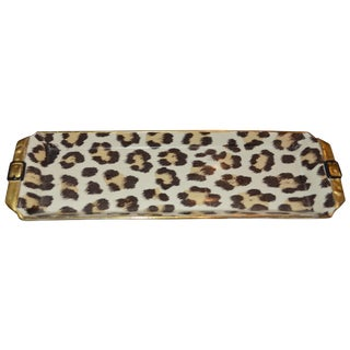 Hollywood Regency Italian Leopard Trinket Tray