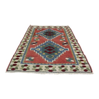 Ori̇ental Turki̇sh Wool Rug - 3′6″ × 4′10″