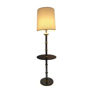 Laurel Smoked Chrome & Brass Bamboo Floor Lamp