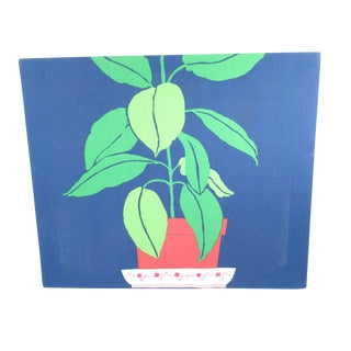 Fabric Potted Plant Wall Hanging
