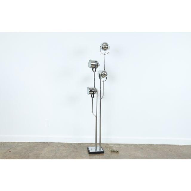 Reggiani four arm chrome floor lamp chairish for Reggiani chrome floor lamp
