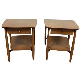 Bleached Walnut End Tables - A Pair
