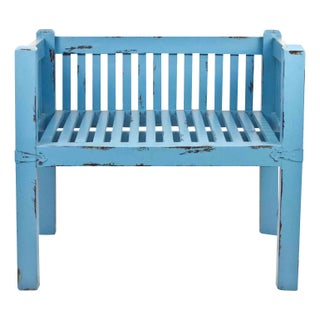 Turquoise Wooden Club Chair