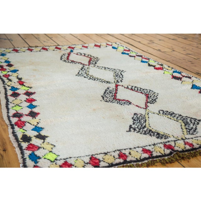 """Vintage Colorful Moroccan Rug - 4'2"""" x 7'3"""" - Image 2 of 5"""