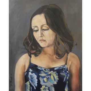 Elizabeth in Her Easter Dress Painting