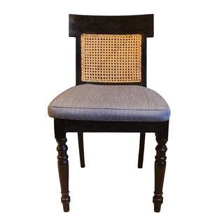 Vintage British Cane And Ebonized Chair
