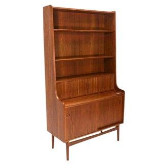Vintage Danish Mid-Century Modern Teak Secretary Bookshelf