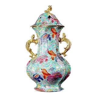 Mason's Ironstone Bandana Pattern Pot Pourri Vase & Cover, circa 1825-40.