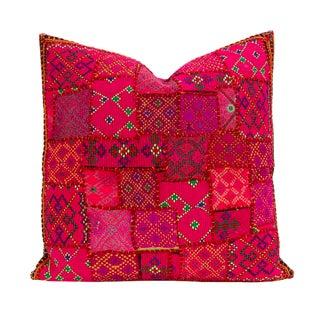 Bright Pink Heer Jaislmer Pillow