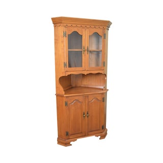 Vintage Solid Maple Traditional Corner Cabinet