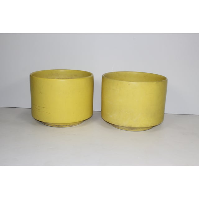 Image of 1960's Yellow Planters - A Pair