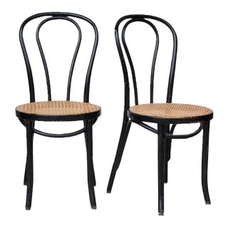 Vintage French Bentwood Dining Chairs - A Pair