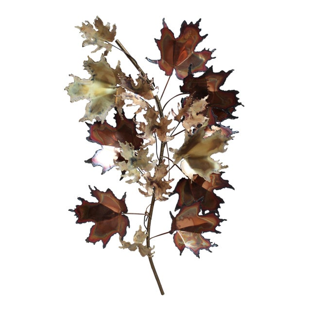Curtis Jere Autumn Leaves Wall Sculpture - Image 1 of 6