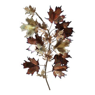 Curtis Jere Autumn Leaves Wall Sculpture