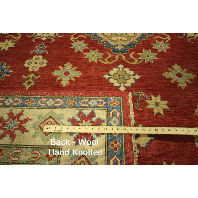 Super Kazak Hand Knotted Rug Red - 9' x 12' - Image 11 of 11