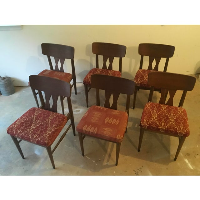 Vintage Modern Danish Style Dining Chairs - Set of 6 - Image 2 of 10