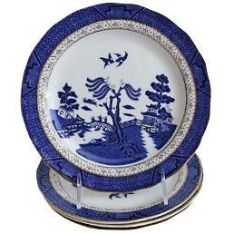 Royal Doulton Willow Plates- Set of 4