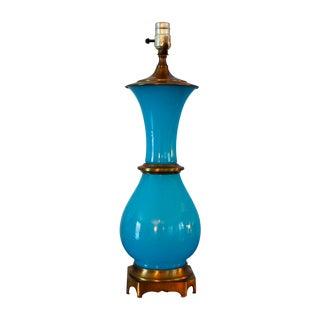 Vintage Murano Opaline Blue Lamp