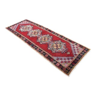 Antique Turkish Muted Hand-Knotted Runner- 3′3″ × 9′5″