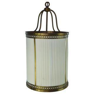 Traditional French Clothe Shade Brass Light