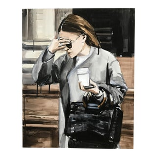 An Olsen Twin Hiding Behind Her Right Sleeve Painting by Laura Collins