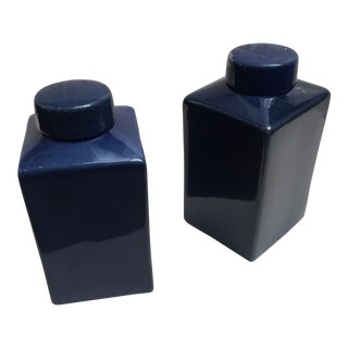 Blue Porcelain Ginger Jars - A Pair