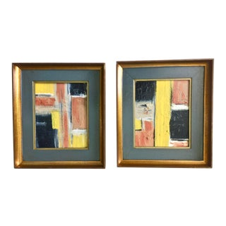 Abstract Original Paintings - A Pair