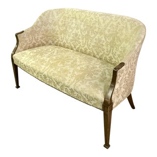 Vintage Neoclassical Settee With Nailhead Detail