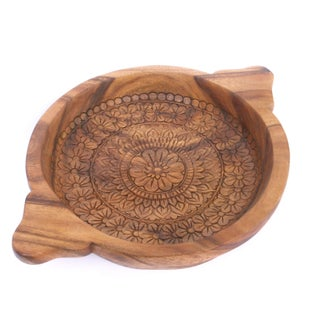 Balinese Carved Wood Bowl IV