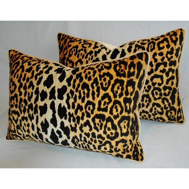 Hollywood Glam Leopard Spot Safari Velvety Pillows - A Pair - Image 5 of 11