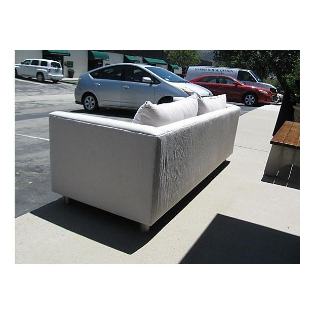 Mid-Century Modern Canvas Sofa - Image 4 of 8
