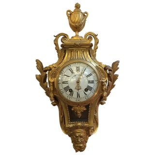Rare French Louis XVI Gilt Bronze Cartel