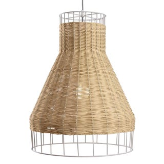 Blu Dot Laika Woven Wicker/Rattan Pendant Light