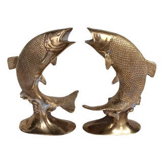 Solid Brass Koi Fish - Pair