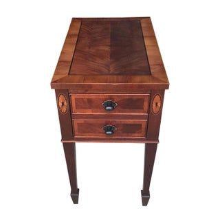 Hekman Mahogany Side Table With Drawer