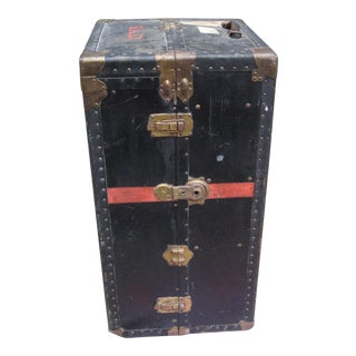 Vintage Industrial Steamer Trunk