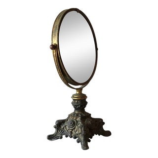 Makeup Mirror French Gold Medal 1920s