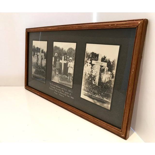 Antique French Funerary Scene Triptych - Image 3 of 7