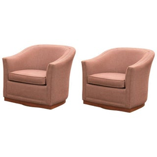 Mid-Century Modern Swivel Club Chairs - A Pair