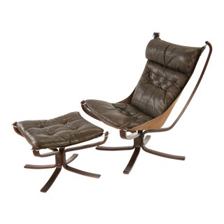Vatne Mobler Norway Falcon Chair & Ottoman