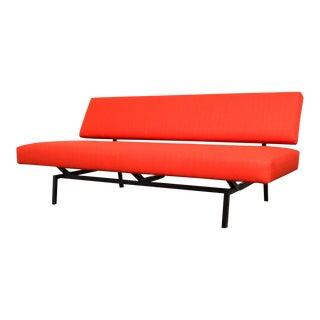 Minimal Coen de Vries Style Flame Red Sofa
