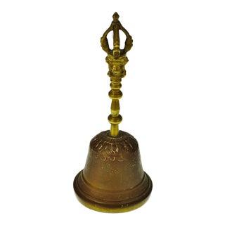 Vintage Brass Tibetan Prayer Bell Buddhist Hand Bell
