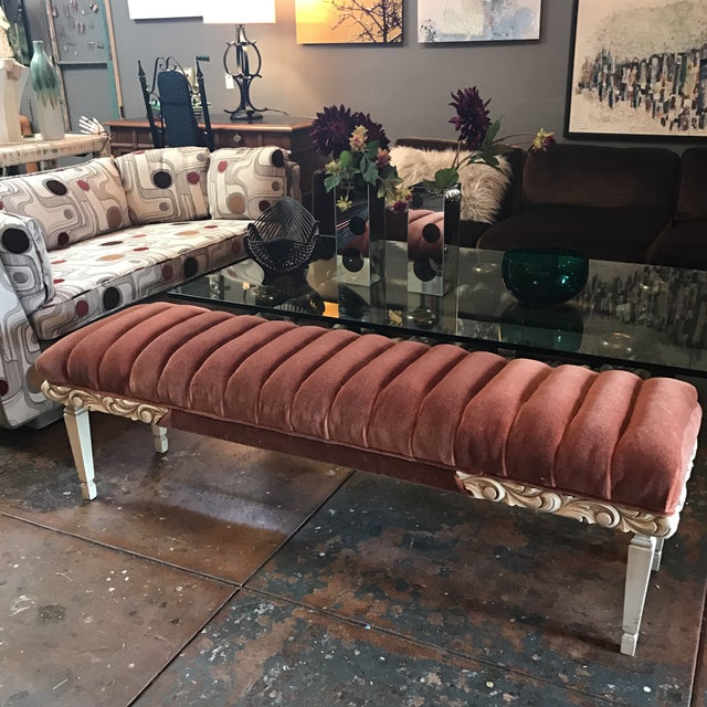 Tufted Mohair Bench - Image 3 of 8