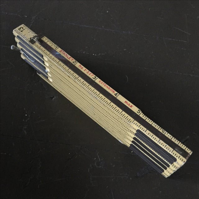 Stanley Extension Wood & Brass Ruler - Image 8 of 9