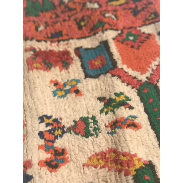 Stuffed Vintage 100% Moroccan Rug Wool Pillow Made in Marrakesh - Image 6 of 11