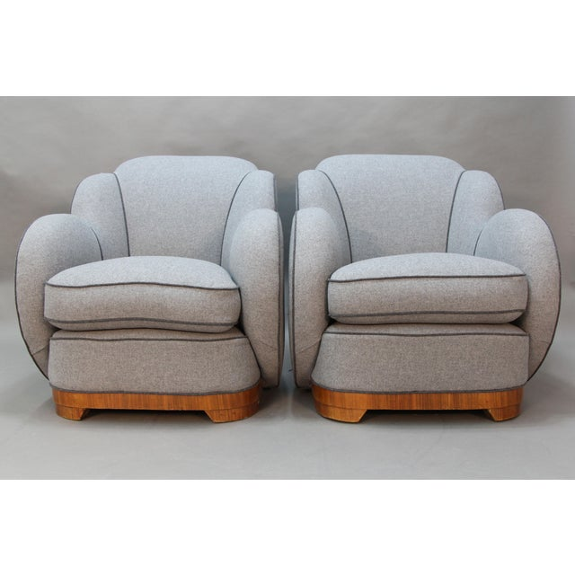 Image of Art Deco Upholstered Chairs - A Pair