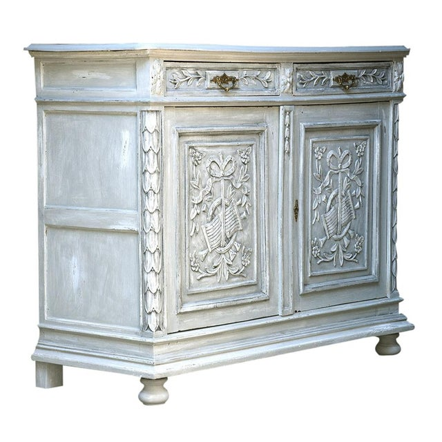 Traditional French Louis XVI-style Painted Buffet - Image 9 of 10