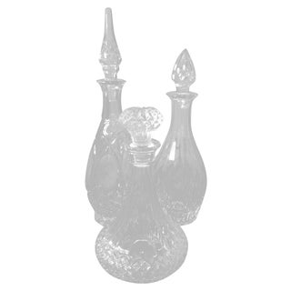 Vintage Cut Glass Decanter Set
